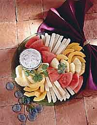 Fresh Fruit with Creamy Lime Dipping Sauce