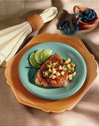Grilled Swordfish with Pineapple Salsa