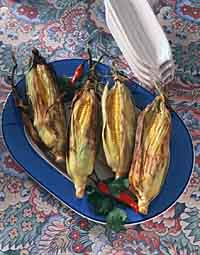 Grilled Coriander Corn