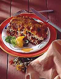 Southwestern Beef and Bean Lasagna