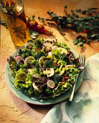 Greens and Broccoli Salad with Peppy Vinaigrette