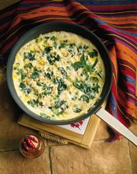 Pea and Spinach Frittata
