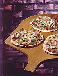 Vegetable-Cheese Pizzas