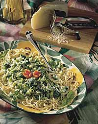 Saucy Broccoli and Spaghetti