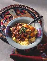Spicy-Sweet Lamb Tagine with Saffron Couscous