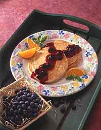 Buttermilk Pancakes with Blueberry-Orange Sauce
