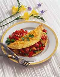 Roasted Vegetable Omelet with Fresh Salsa