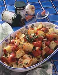 Oven Roasted Potatoes and Onions with Herbs