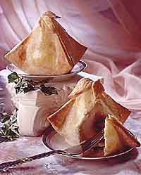 Raspberry-Pear Dumplings