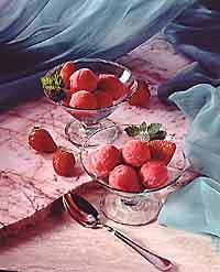 Strawberry-Banana Granité
