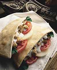 Chicken Kabobs in Pita Bread