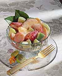 Creamy Coconut-Lime Fruit Salad