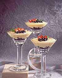Quick Coconut Custard with Berries