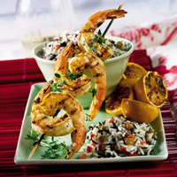 Grilled Garlic-Pepper Shrimp