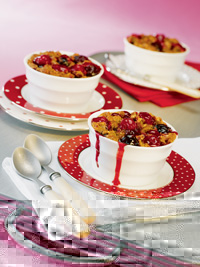 Double Cherry Crumbles