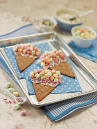 Marshmallow Ice Cream Cone Cookies