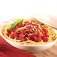 Chunky Tomato Sauce with Bucatini Pasta