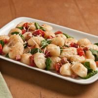 Gnocchi with Tomatoes, Spinach and Pancetta