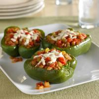 Lentil and Tomato Stuffed Peppers