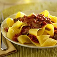 Pappardelle with Portobello Bolognese Sauce