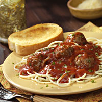 Red-and-Ready Spaghetti and Meatballs