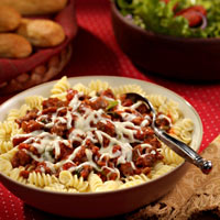 Sausage and Tomato Rotini