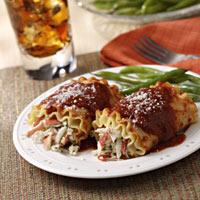 Seafood Lasagna Roll-ups