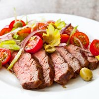 Flank Steak with Tomato Salad Recipe