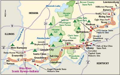 Indiana Scenic Drives: Ohio River Scenic Byway | HowStuffWorks on illinois and ohio map, illinois state map with cities and towns, paris il map, illinois and kentucky map, belleville illinois state map, indiana illinois road map, michigan map, illinois and minnesota map, illinois and michigan, illinois and iowa map, illinois and indiana city map, indiana and kentucky county map, illinois and texas map, illinois indiana state line marker, indiana-kentucky ohio county map, illinois and missouri map, illinois basketball calvin brock, illinois and kansas map, illinois map and surrounding states, illinois and california map,