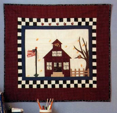 School Days Quilted Wall Hanging