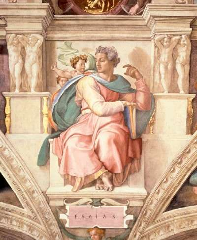 Prophet Isaiah Within the Sistine Chapel Ceiling ...