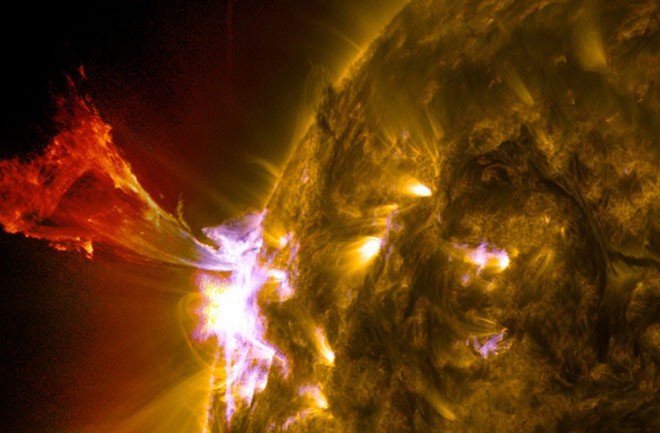 Could an extremely powerful solar flare destroy all the electronics