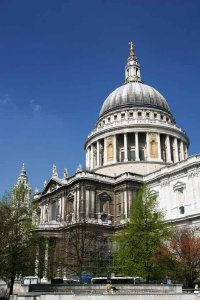 St. Paul's Cathedral was built after the London fire of 1666 and is England's only baroque cathedral.