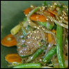 Stir-Fry of Beef, Carrots, Snake Beans, Ginger and Garlic