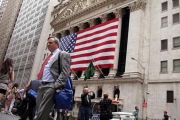A Bolsa de Nova York, na cidade de Nova York.