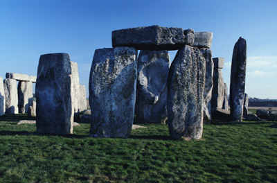 The rocks of Stonehenge were shaped by people of the Bronze Age using hammers the size of footballs.