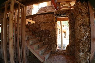 The stairway before plaster