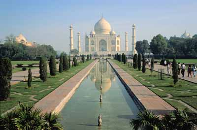 The centuries-old Taj Mahal is menaced by Agra's all-too-modern air pollution.