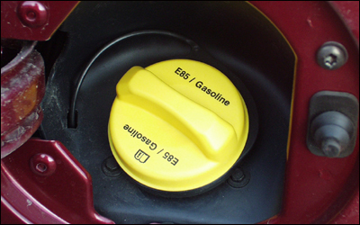 yellow gas cap