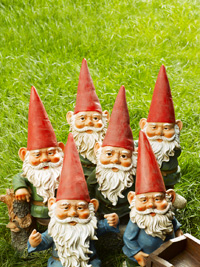 Gnomes might be cheerful outdoor companions for you, but other people could find them just a little creepy.