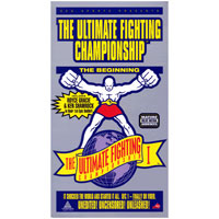 Promotional art for the first UFC event