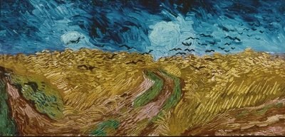 Vincent van Gogh's Wheatfield with Crows, 1890