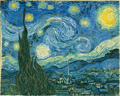 One of Vincent van Gogh's most famous paintings, The Starry Night, was painted from the artist's hospital room.