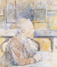 Portrait of Vincent van Gogh in a Cafe by Henri de Toulouse-Lautrec, 1887