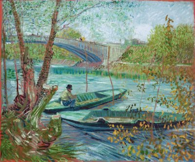 Vincent van Gogh's Fishing in the Spring, the Pont de Clichy (Asnières), 1887
