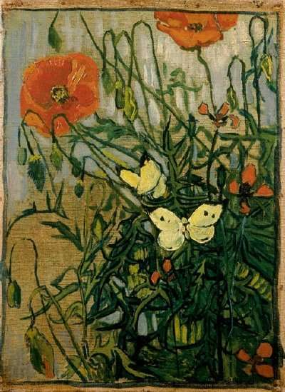 Butterflies and Poppies by Vincent van Gogh | HowStuffWorks