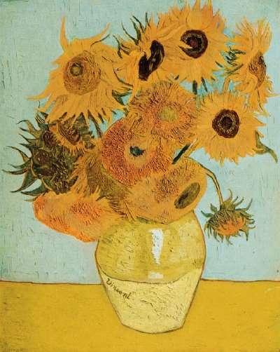 Vincent van Gogh\u0027s Still Life Vase with Twelve Sunflowers (oil on canvas 35 & Still Life: Vase with Twelve Sunflowers by Vincent van Gogh ...