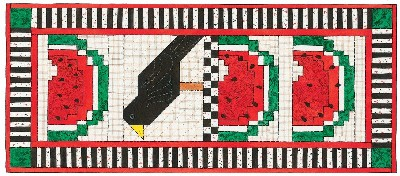 Watermelon Treat Quilted Wall Hanging Pattern