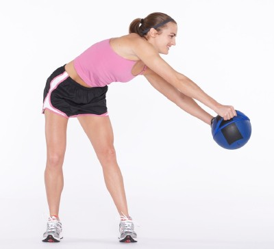 circle and bend weight lifting exercise