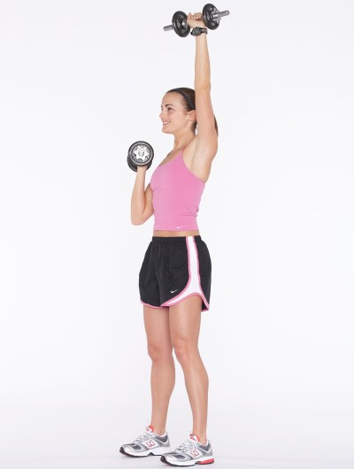 Repeat with the left arm and perform 2 to 3 sets of 15.